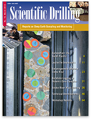 Cover of 'Scientific Drilling' Magazine